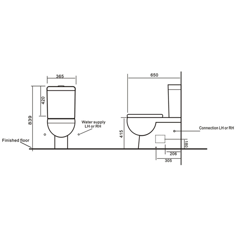 Australia Standard Wc Pan Sanitary Wares Bathroom Ceramic Toilet