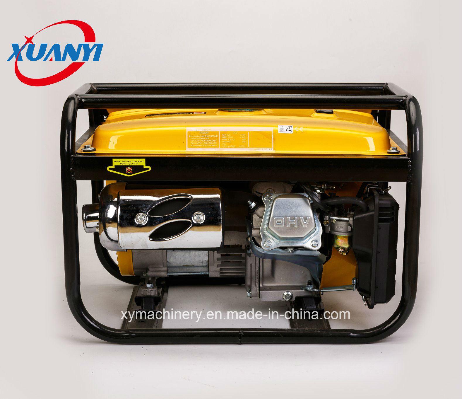 High Quality 2500W 7HP 100% Copper Wire Electric Start Petrol/Gasoline Generator