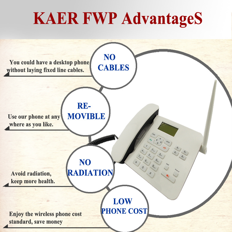 GSM Fixed Wireless Landline Phone (KT1000 (162))