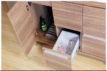 Hot Sale Melamine Bathroom Furniture with Mirror Cabinet (SW-ML1307)