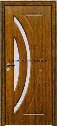Africa Interior Wooden Rounded MDF PVC Door (EI-P112)
