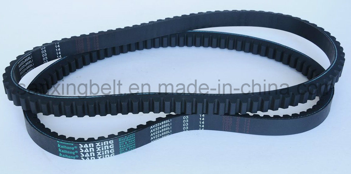 Rubber Narrow V Belt, Raw Edge Cogged V Belt for Air Compressor