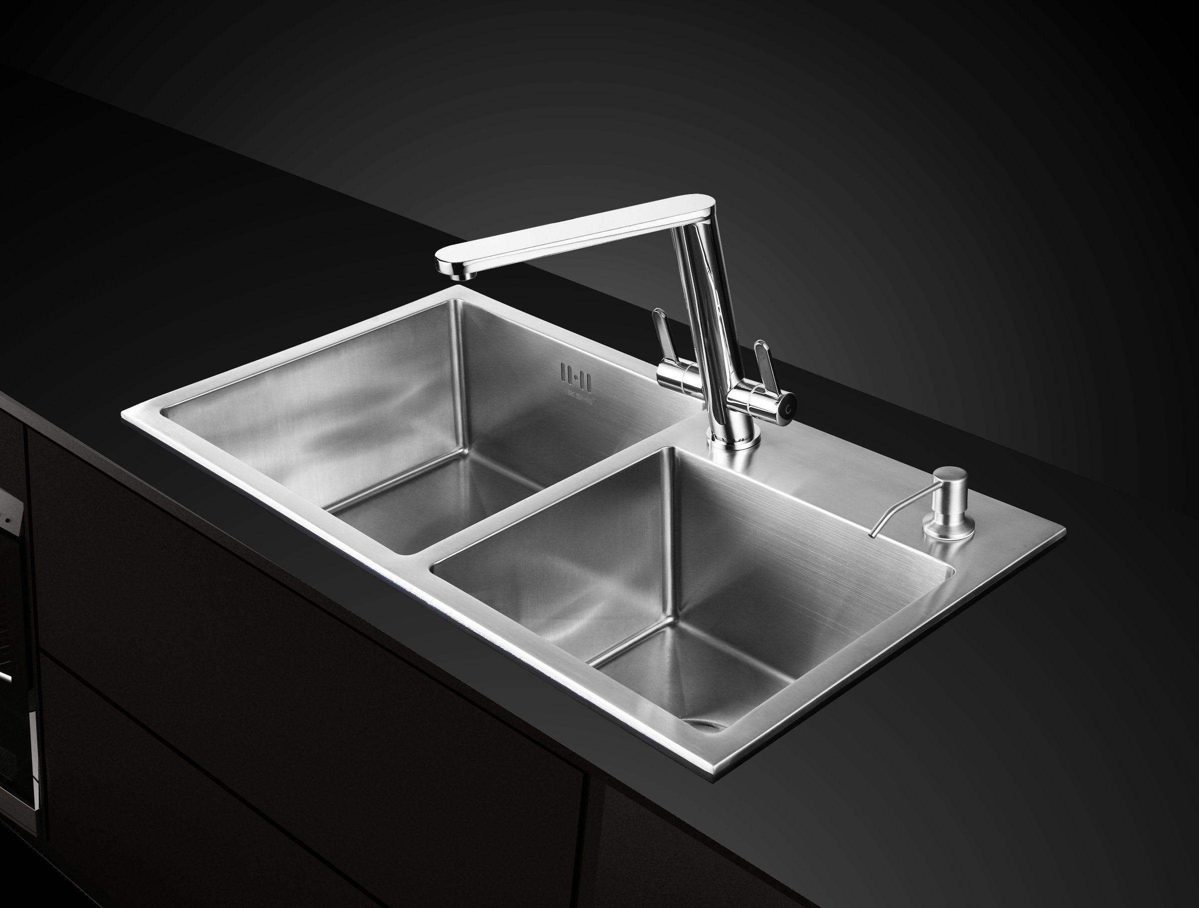 Brass Double Handle Swivel Sink Water Tap