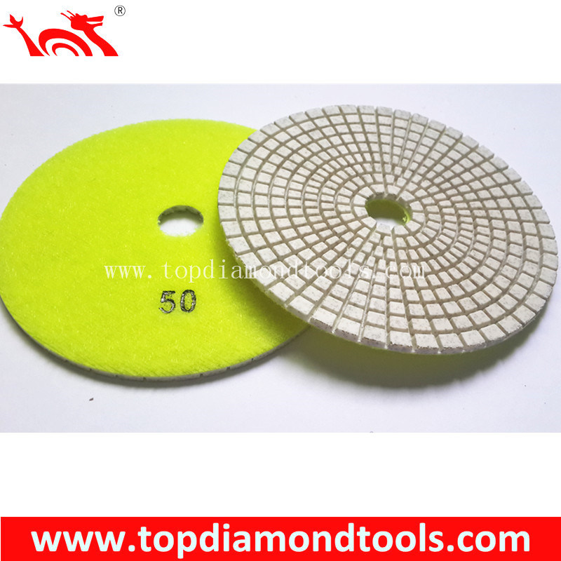 Flexible Diamond Polishing Pads for Concrete Floor