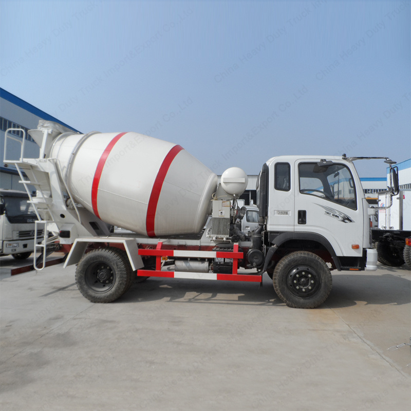 Sinotruk Light Duty Cement Mixer 3m3 Concrete Transport Truck