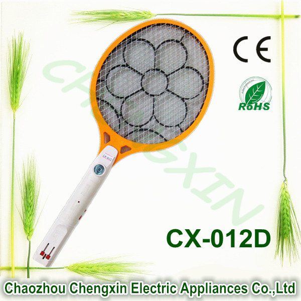 China Factory Rechargeable Mosquito Killing Swatter Big Flower Net with Light