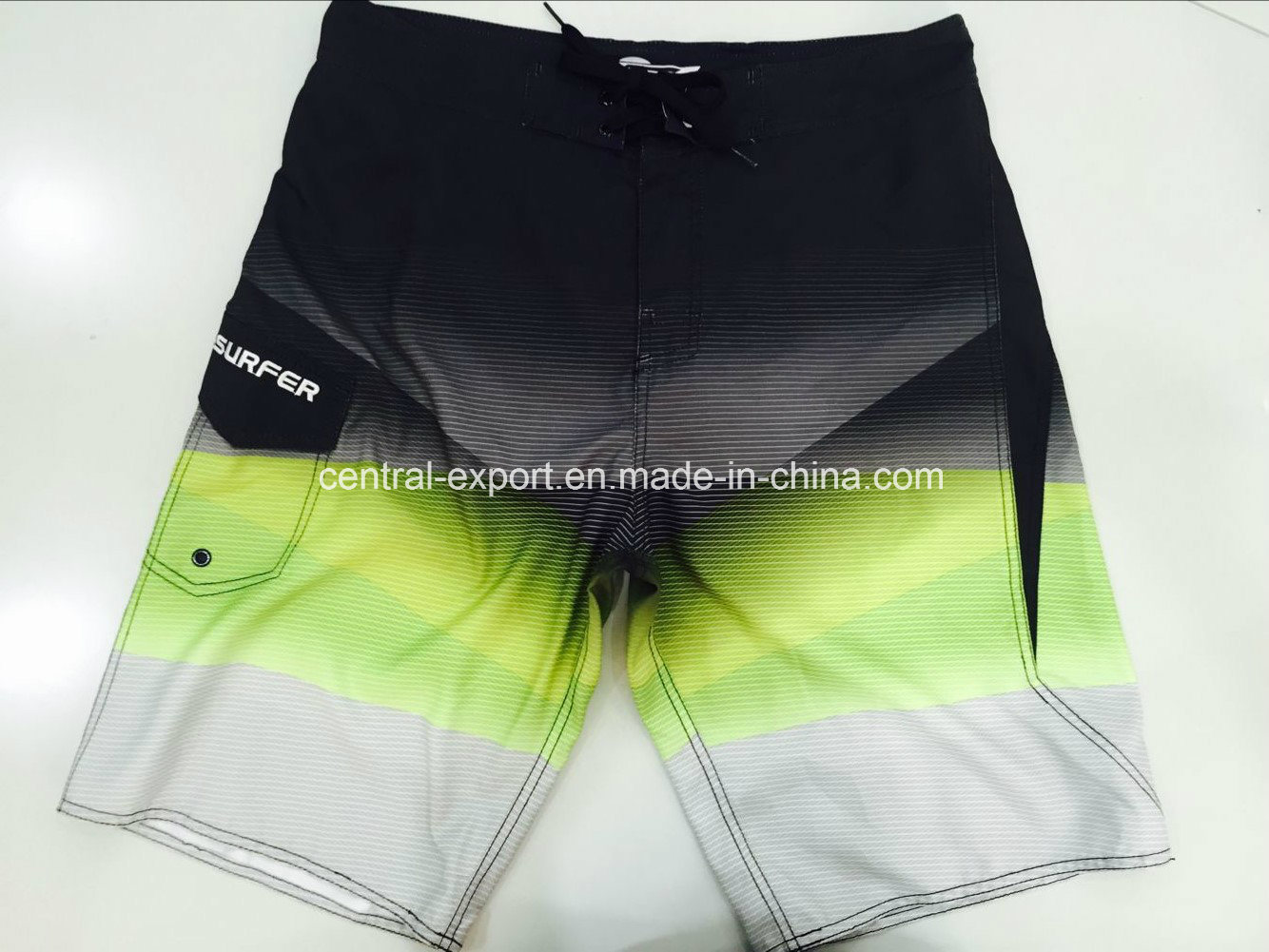 Oeko-Tex Flat Waist Polyester Contract Color Men Board Short Swimwear