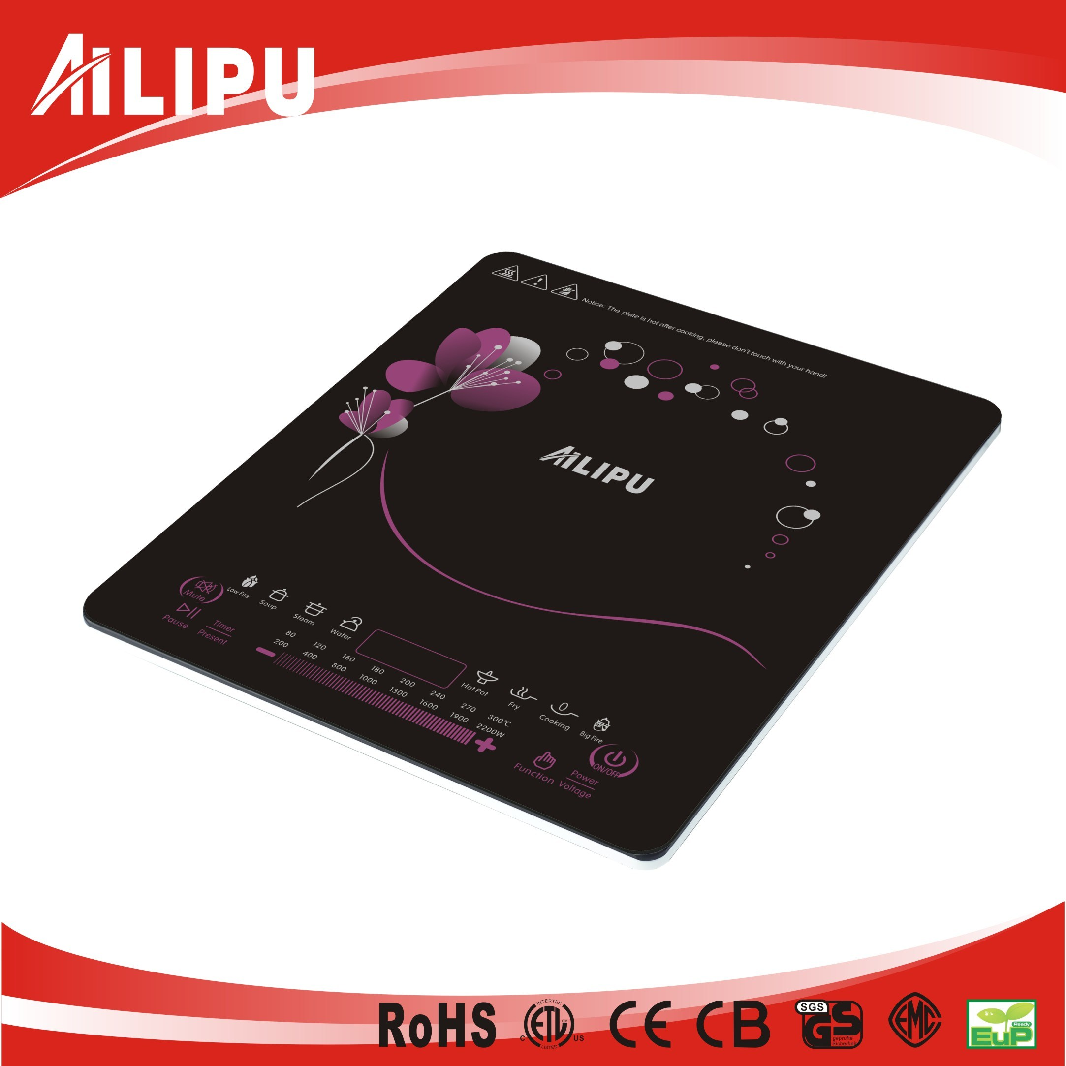 Countertop Ultra Thin Touch Control Induction Cooker Sm-A37s
