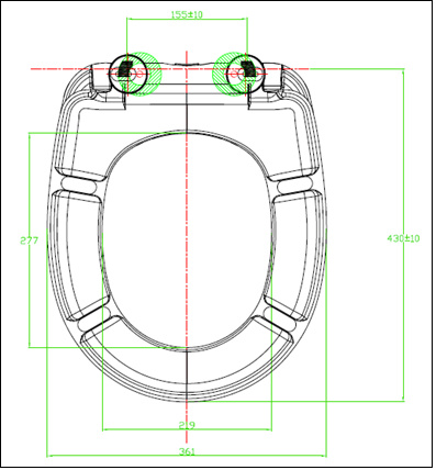 UF Slow Down Round Shape Toilet Seat