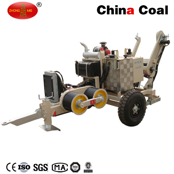 Overhead Power Line Conductor Tension Stringing Equipment Hydraulic Cable Puller