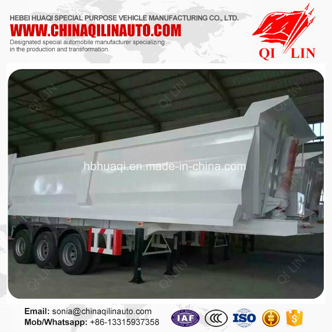 Qilin 50 Tons Payload Tipper Semi Trailer for Bulk Cargo Loading