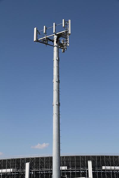Self Standing Single Pillar Telecom GSM Bts Steel Poles Tower