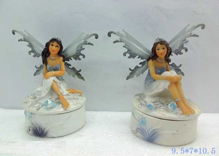 Polyresin Fairy Jewellery Box for Home Decoration