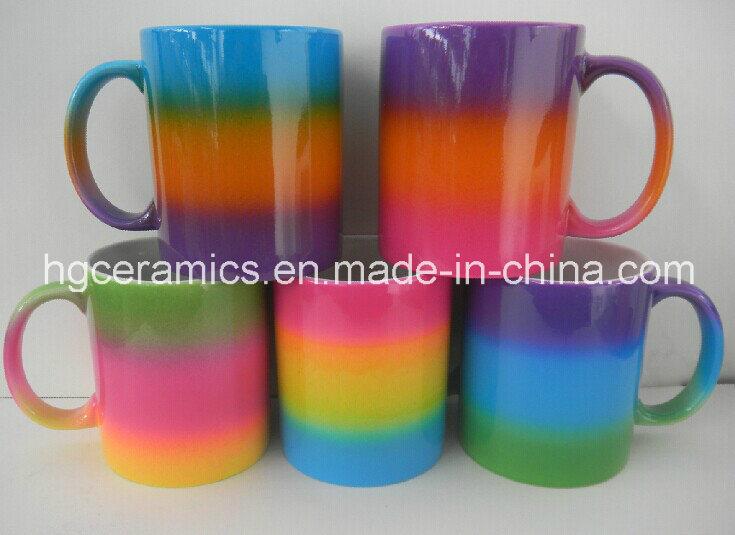 Rainbow Color Mug, Rainbow Color Coating Mug