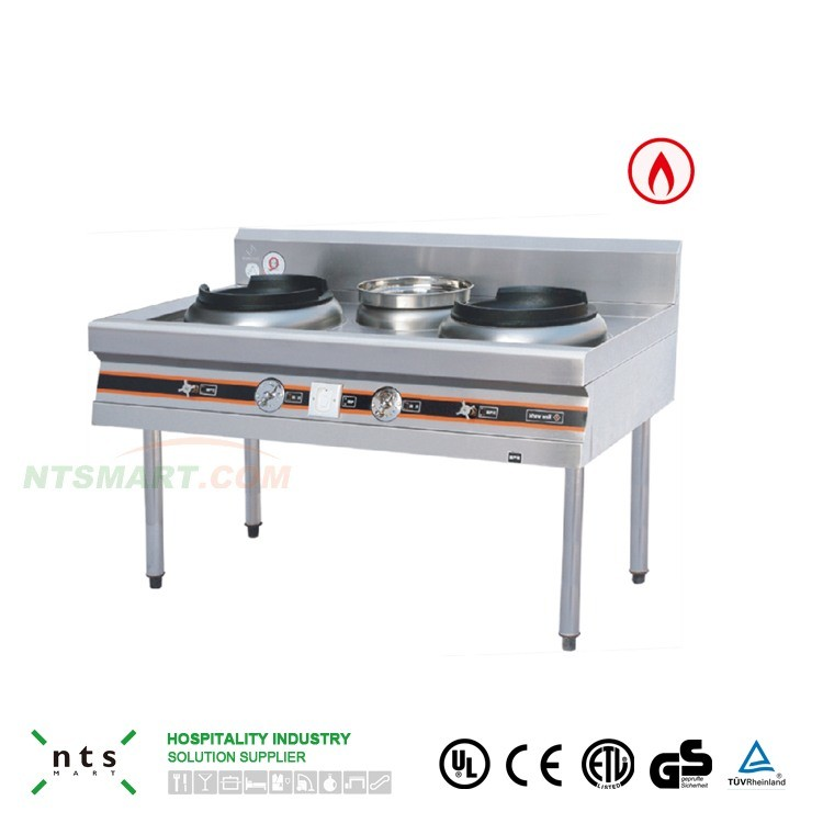 Stainless Steel Gas Stove for Chinese Kitchen Equipment