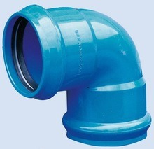 PVC 90 Deg Elbow with Rubber Ring for Water Supply