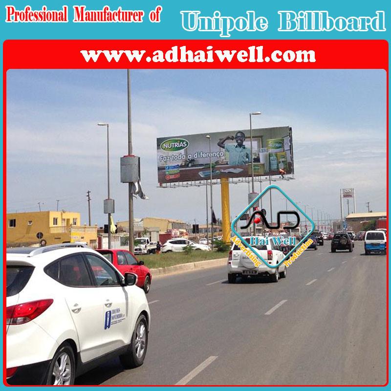Outdoor Advertising Unipole Billboard Display in Luanda Africa