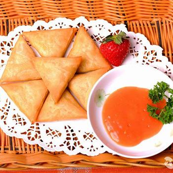 Salt Tsing Tao Curry Powder Vegetable Frozen 12.5g/piece Samosas