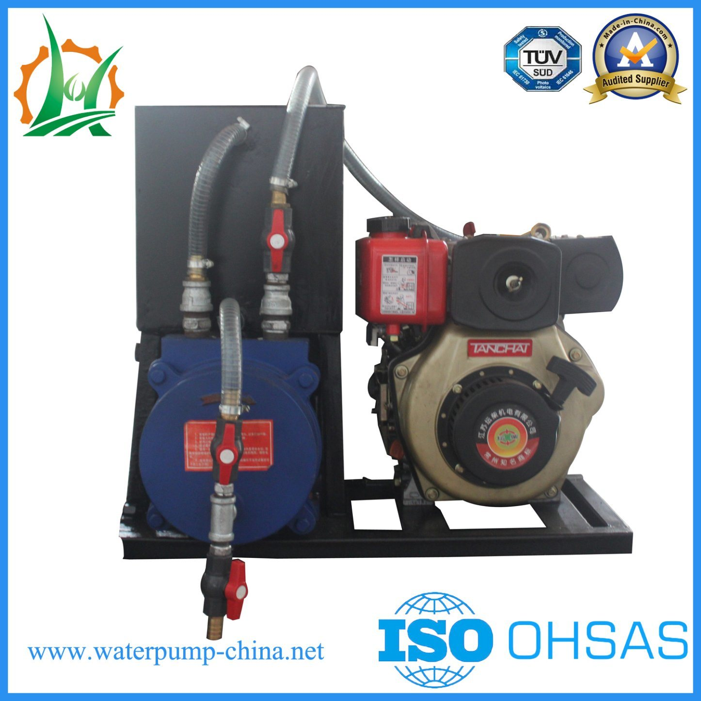 Hbp Trailer Diesel Engine Centrifugal Water Pump with Assisted Vacuum