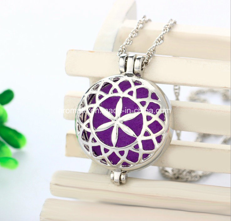 Stainless Steel Scented Aroma Diffuser Necklace (AL-04)