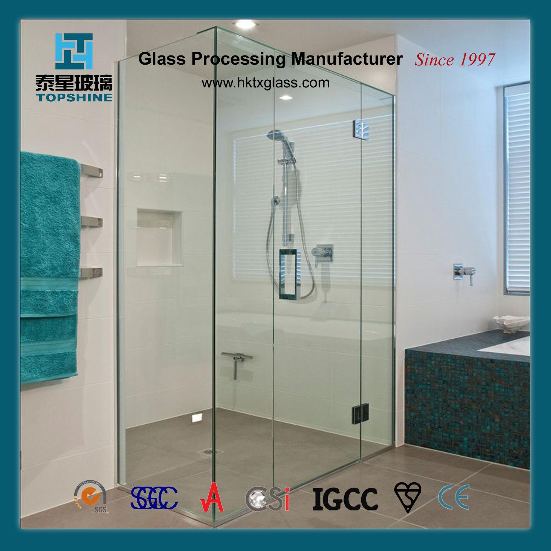 Bathroom Screen Sliding Door Glass for Hotel Project