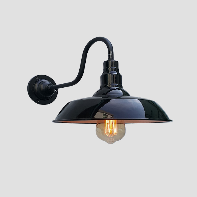 High-Quality Style Enamel Wall Lamp - Black
