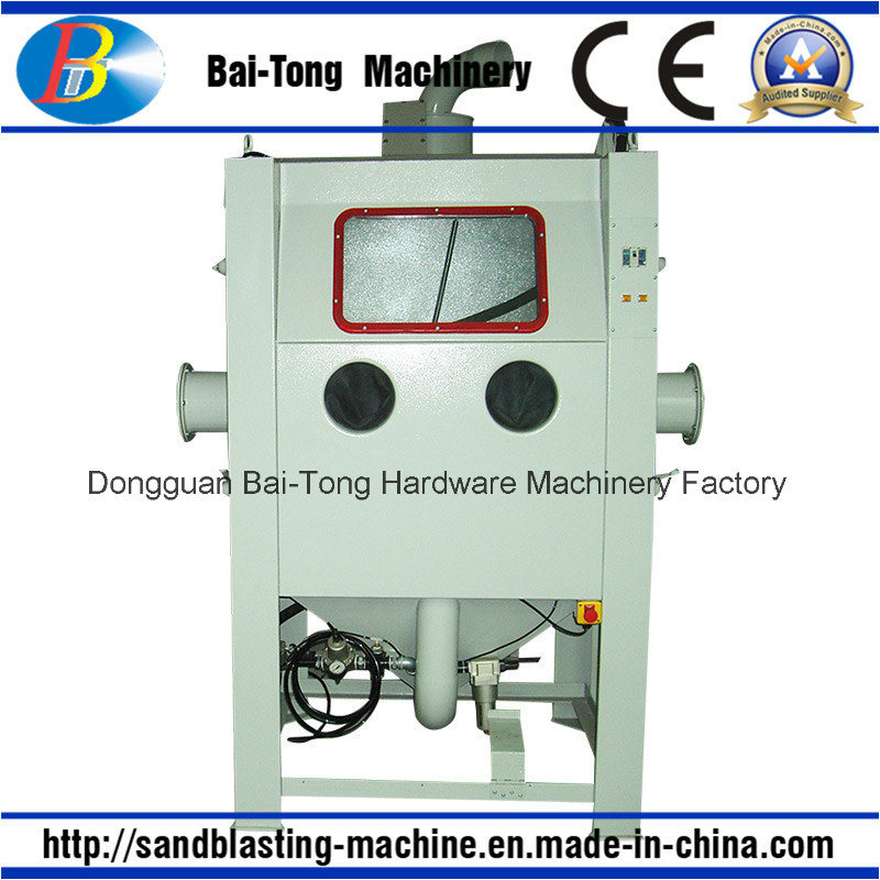 Manual Mould Sandblast Cabinet with Trolley and Turntable