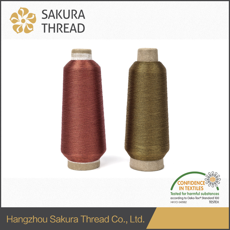 Gold Lurex Metallic Thread for Label Embroidery China Suppiler