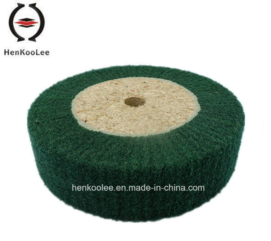 Non Woven Polishing Flap Wheel (Green Colour)
