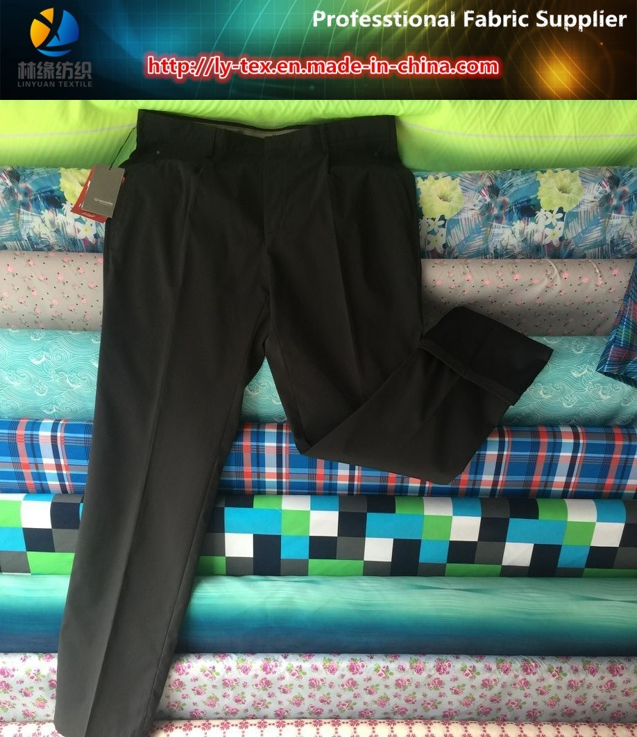 Polyester T400 Stretch Compund Fabric for Suit Pants
