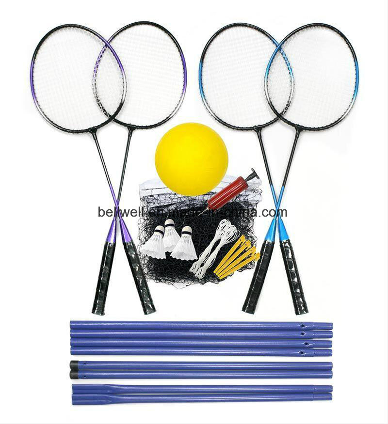 Outdoor Badminton Racquets Net Set with Beach Tennis