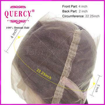 Factory Supply Brazilian Human Hair 22.5 X 4 X 2 Silk Straight 360 Lace Frontal