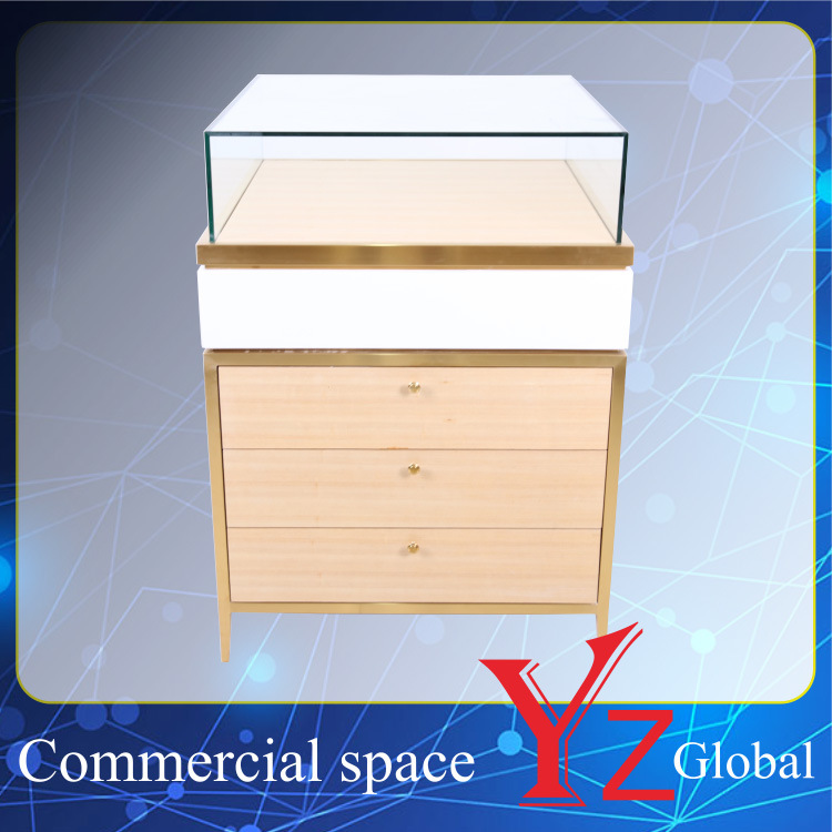 Display Cabinet (YZ161709) Stainless Steel Display Case Display Shelf Display Showcase Exhibition Cabinet Shop Counter