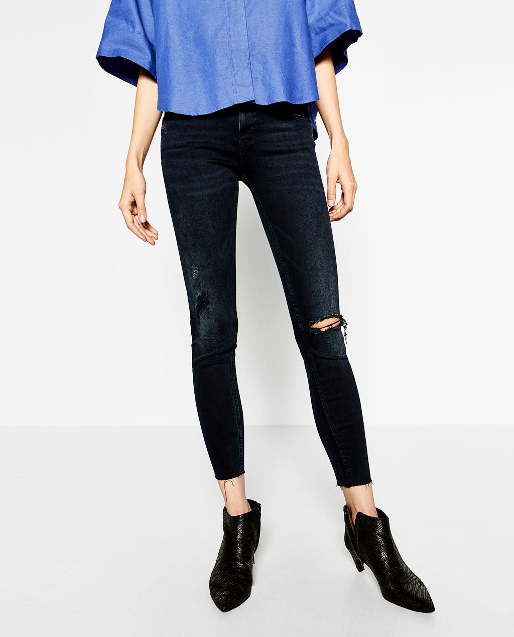 Fashioned Women Skinny Pant with Holes