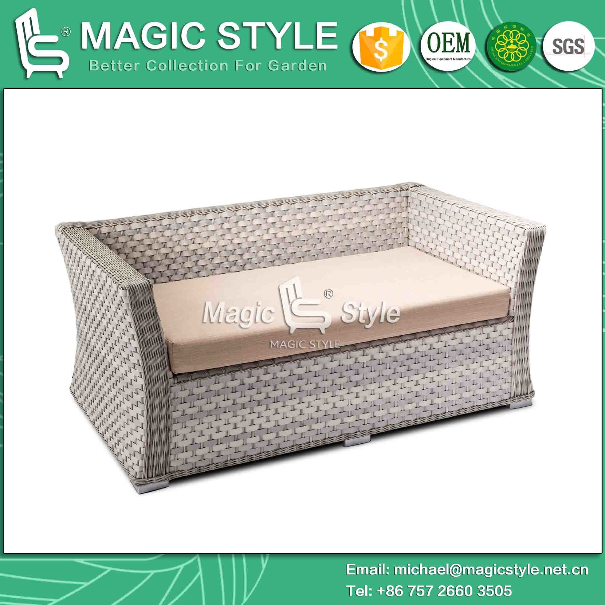 New Design Wicker Sofa Set Rattan Sofa with Cushion (Magic Style)