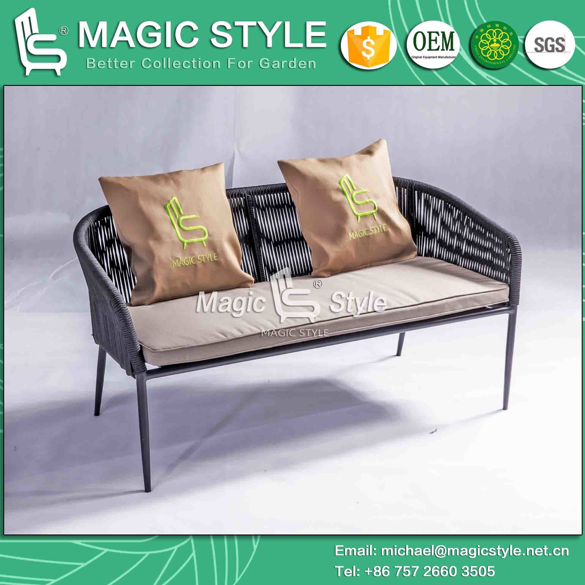 Polyester Bandage Outdoor Sofa with Cushion Hotel Project Sofa Set