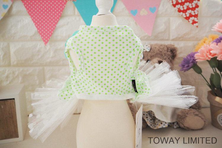 Lovely Summer Dog Dress Printing Dots Tutu Pet Skirts