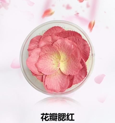 New Design Natural Rose Petal Shape Blusher OEM