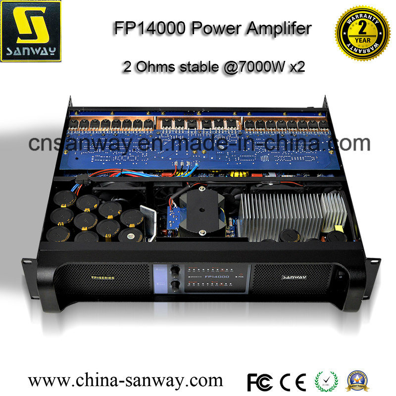 Fp14000 2 Channel Professional Audio Power Amplifier, PA Subwoofer Amplifier, Stereo Amplifier