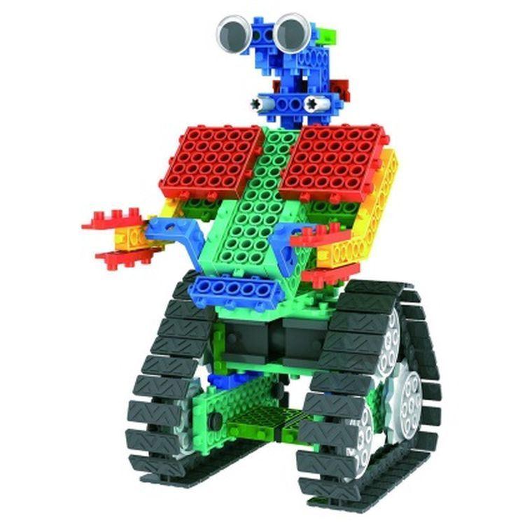 1488726-2 in 1 Warrior Battle Robot Block Kit Remote Control RC Blocks Set Education Creative Toy 137PCS - Color Random