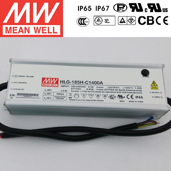 Meanwell LED Driver 1400mA DC Transformer HLG-185H-C700