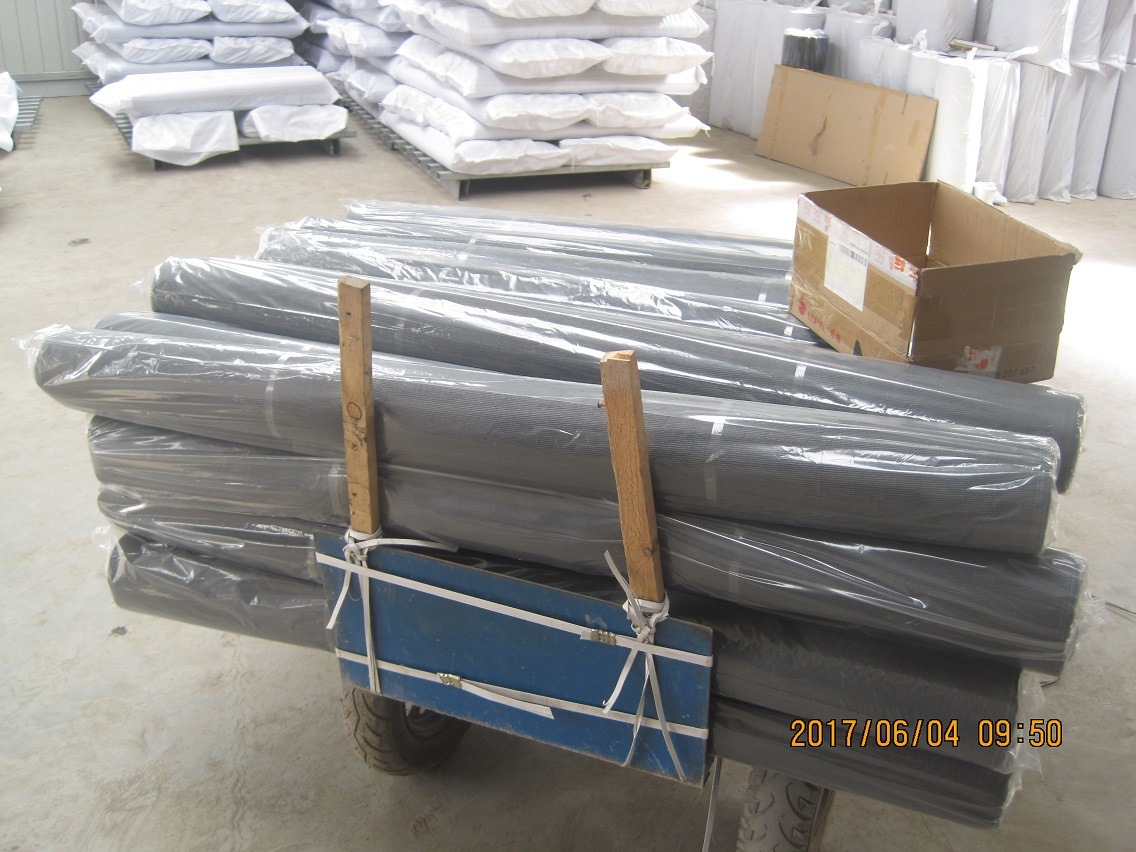PVC Coated Fiberglass Window Mosquito Screen, 18X16, 120G/M2, Grey or Black