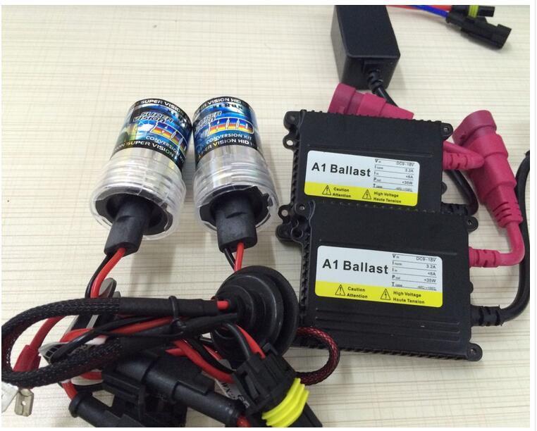 35W 55W HID Xenon Conversion Kit Slim Ballast H1 H3 H4 H7 H11 9005 9006 Xenon HID Kit