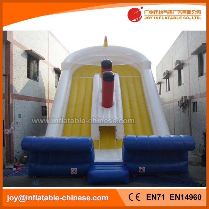 Titanic Boat Bouncy Slide Inflatable Slide for Amusement Park (T4-401)