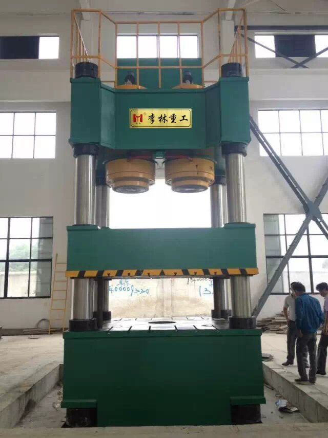 Four-Column, Single-Movement Hydraulic Press for Sheet Metal Drawing Yll27-2500t
