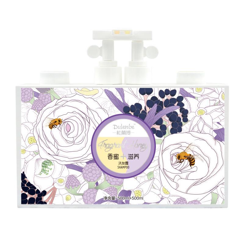 Dulenbe Honey & Nourishing Hair Shampoo 500ml+500ml
