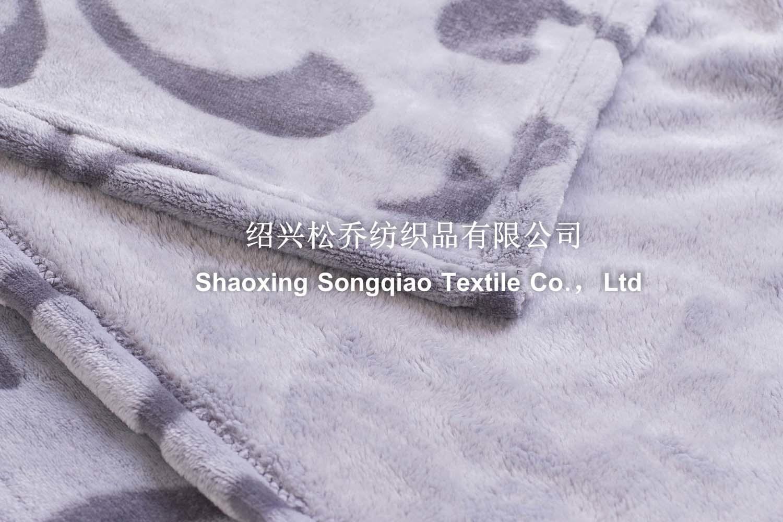 Blanket / Polyester Embossed Flannel Fleece Blanket