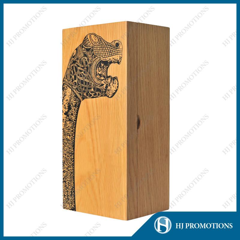 Customized Wooden Liquor Bottle Packaging Box (HJ-PWSY02)