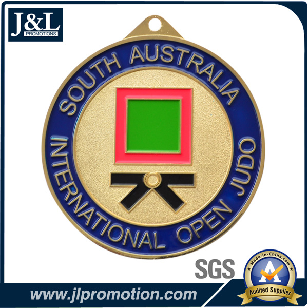 High Quality Customer Design Sports Medal in Shiny Gold