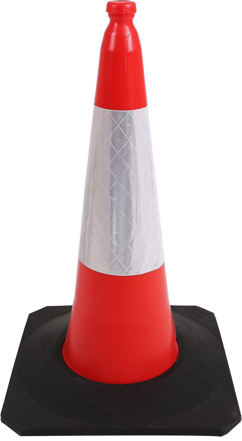 Plastic Traffic Cone with Rubber Heavior Base LED Fixed 750mm
